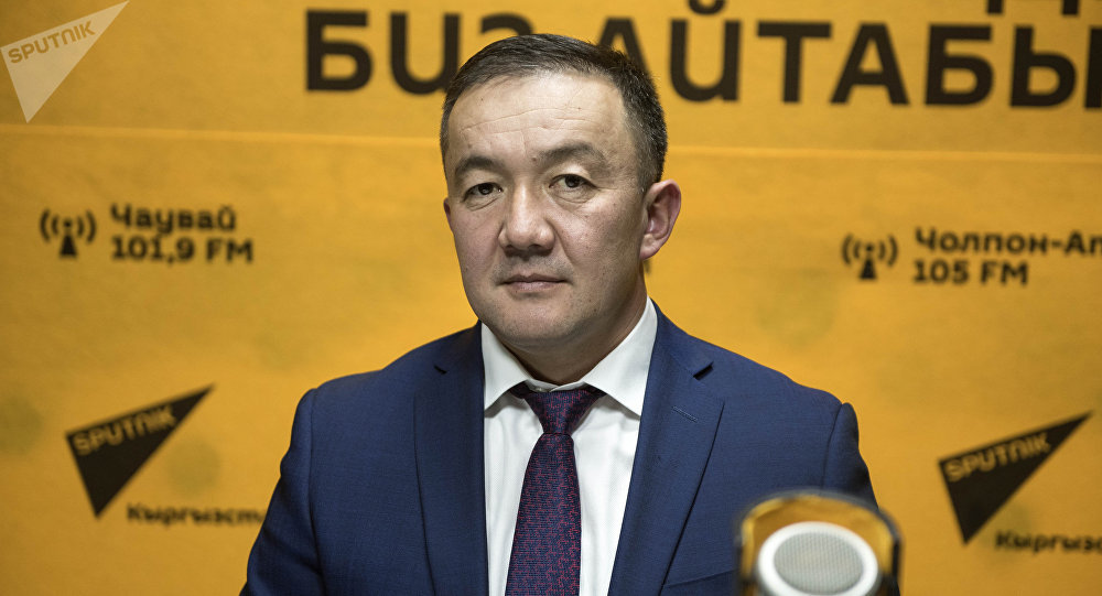 Лидер фракции Республика — Ата-Журт Жыргалбек Турускулов во время беседы на радио Sputnik Кыргызстан