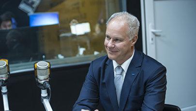 Глава программного офиса ОБСЕ в Бишкеке Пьер фон Аркс во время интервью на радиостудии Sputnik Кыргызстан