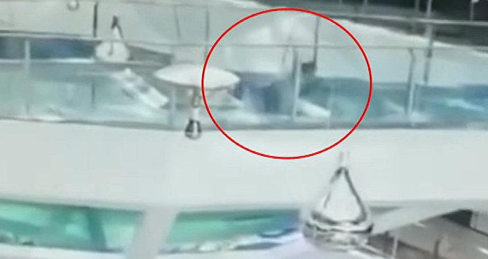 Акула схватила заголову подводного охотника вовремя съемки видео