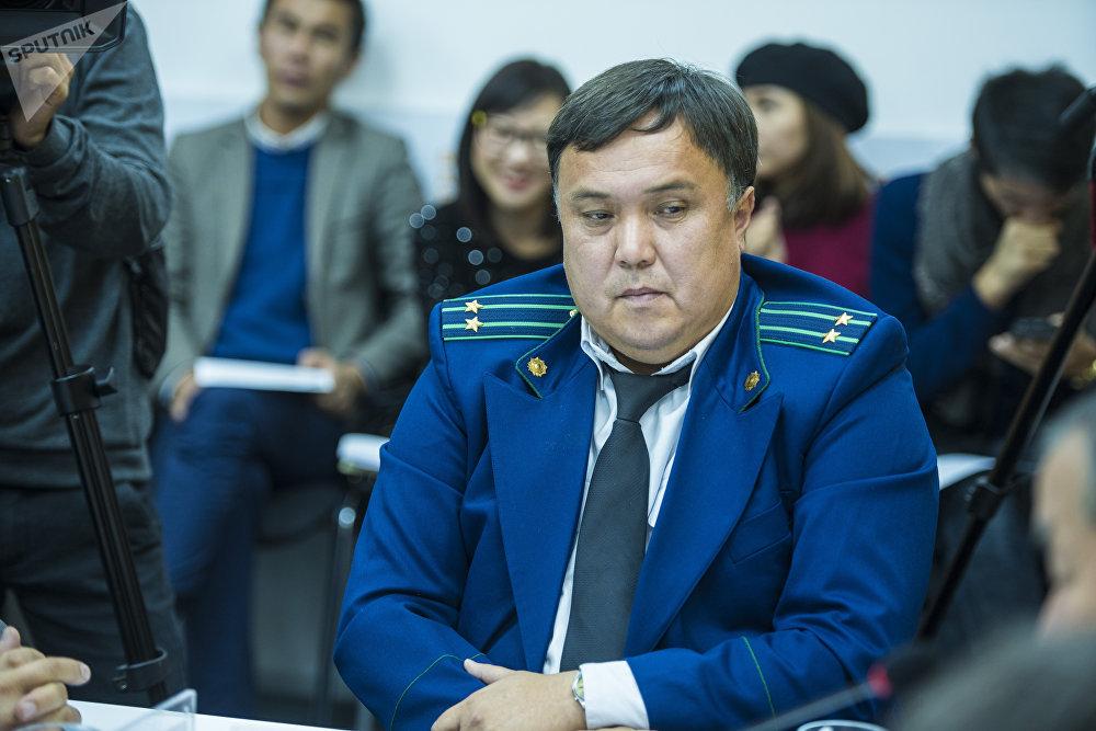 Представитель Транспортной прокуратуры Рустам Кожобеков