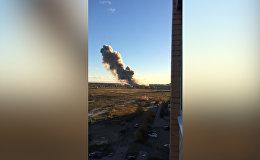 Видео с места взрыва на заводе под Петербургом