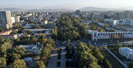 Вид на проспект Эркиндик в Бишкеке с высоты. Архивное фото