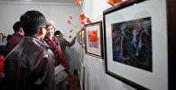 Экспозиция на выставке Ошский вернисаж в Музее изобразительных искусств имени Т. Садыкова