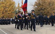 На территории авиационной базы ОДКБ Кант состоялось торжественное мероприятие, посвященное 15-летию со дня ее основания