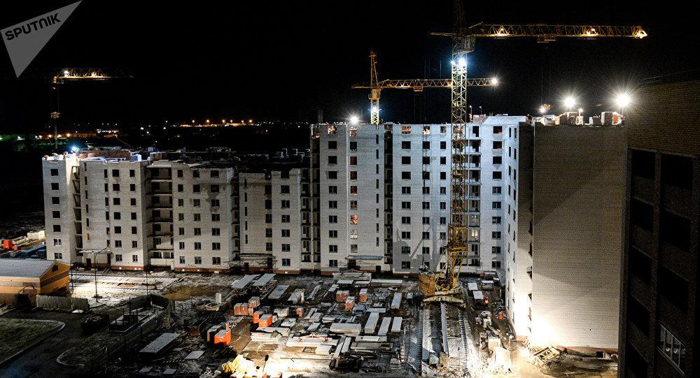 Строящийся жилой комплекс. Архивное фото