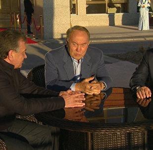 Путин, Назарбаев и Мирзиёев поговорили втроем — видео