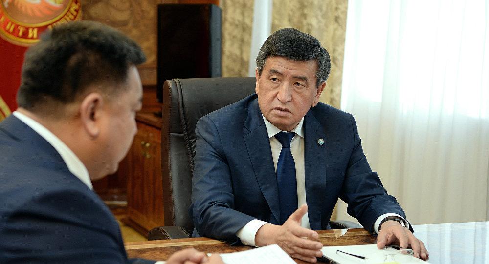 Президент КР Сооронбай Жээнбеков принял министра сельского хозяйства, пищевой мелиорации и промышленности страны Нурбека Мурашева