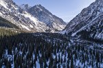 В 30 километрах от Бишкека настоящая зима — потрясающая аэросъемка
