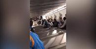 Сильная давка во время обрушения эскалатора в Риме попала на видео
