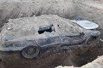 Сотрудники Госкомитета национальной безопасности нашли в Баткенской области автомобиль, закопанный на глубине трех метров