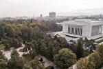 Вид на Государственный исторический музей и парк им. Панфилова в Бишкеке с высоты. Архивное фото