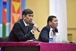 Мэр Бишкека Азиз Суракматов встретился с жителями Октябрьского района столицы