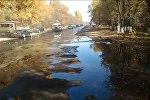 Ситуация возле Кантского нефтяного завода после разлива топлива — видео