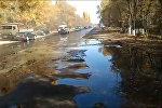 Кант нефть заводунда төгүлгөн кара май унаа жолун каптап кетти. Видео