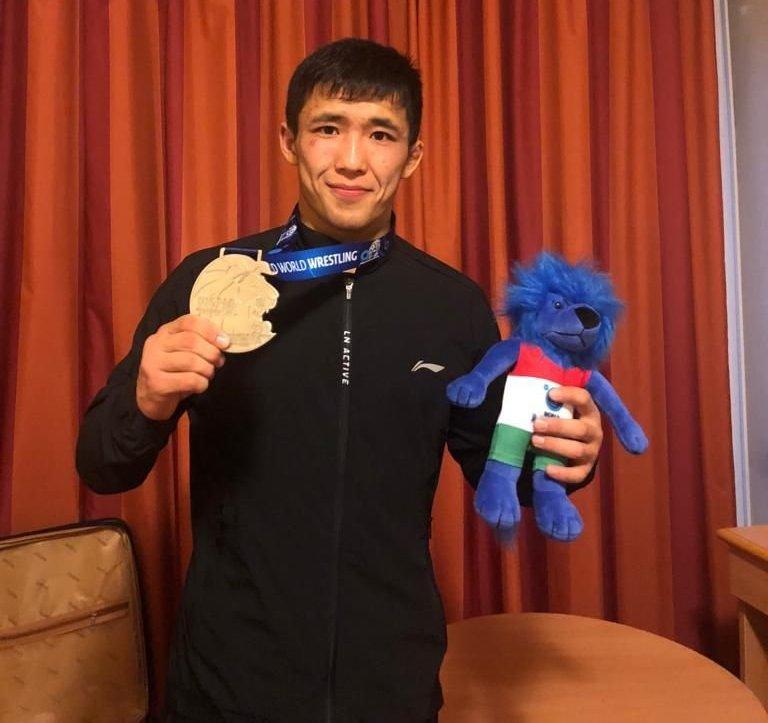 Кыргызстанский борец греко-римского стиля, серебряный призер чемпионата мира среди взрослых в Будапеште Жоламан Шаршенбеков
