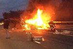 Два грузовика и минивэн столкнулись в Петербурге, погибли 8 человек. Видео