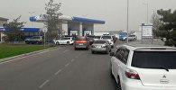 Очередь на заправку газа в Бишкеке