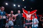 Кыргызстанский боец смешанного стиля Дастан Али Шаршеев стал обладателем чемпионского пояса на турнире AIKOL FC Кубок дружбы народов.