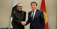 Президент Сооронбай Жээнбеков Пакистандын президенти Ариф Алви менен жолугушуу учурунда