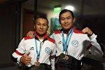 Кыргызстандык спортчулар Мирлан Асеков менен Айбек Асынбаев грэпплинг боюнча эл аралык турнирде алтын медаль тагынды