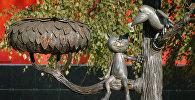 Памятник герою мультфильма Котёнок с улицы Лизюкова. Архивное фото