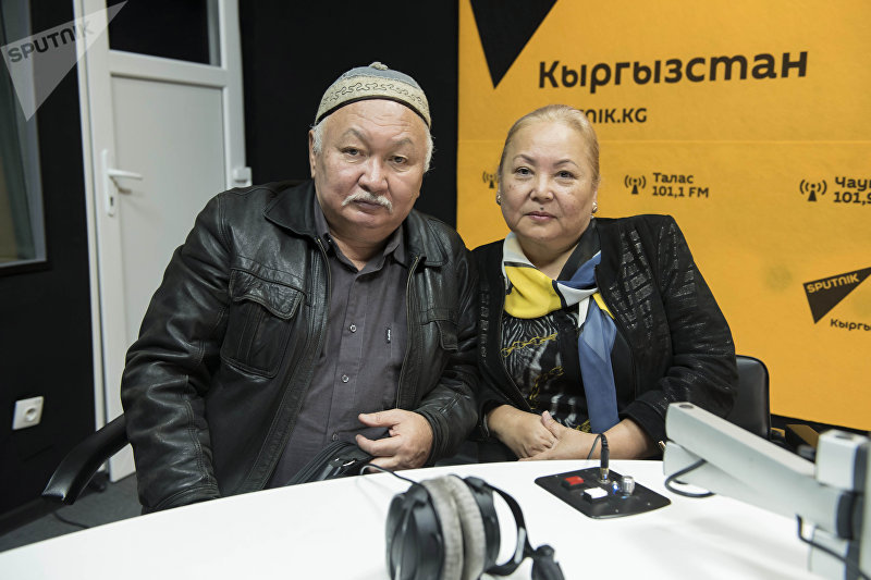 Актриса Мамлакат Кылычева с мужем Мурат Жыргалбаевым