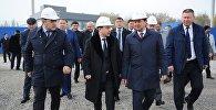 Премьер-министр Мухаммедкалый Абылгазиев Аламүдүн районунда 35 миң адамды жумуш менен камсыздайт деген Silk Way индустриалдык-логистикалык паркынын курулушуна капсула салды