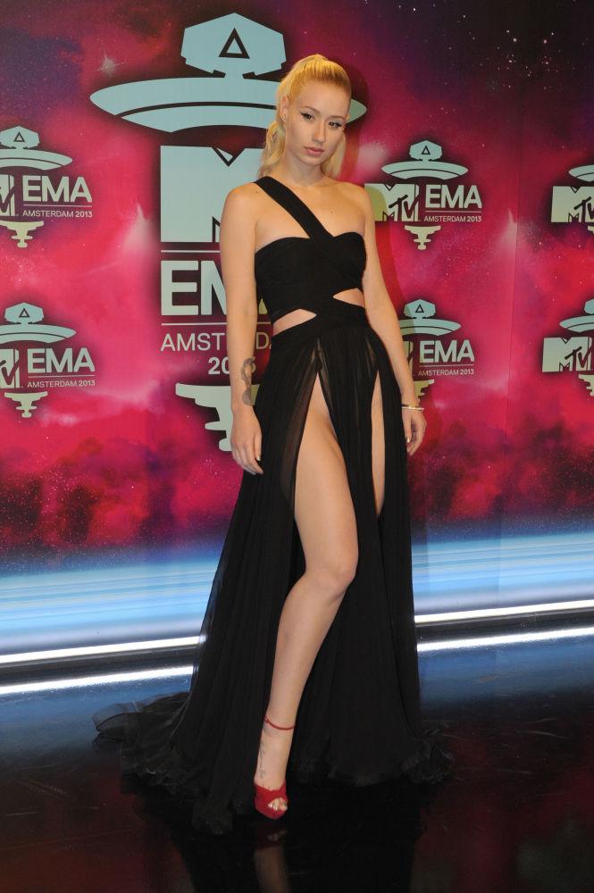 Австралийская певица Игги Азалия перед церемонией вручения премии MTV в Амстердаме