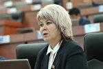 Депутат Ирина Карамушкина. Архивдик сүрөт