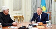 Встреча президента РК Нурсултана Назарбаева и певца Алибека Днишева