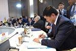 Премьер-министр Мухаммедкалый Абылгазиев Астана шаарында (Казакстан) Көз карандысыз мамлекеттердин шериктештиги өлкөлөрүнүн өкмөт башчыларынын кеңешинин тар курамдагы жыйынына катышты