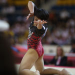 На чемпионате мира выступала также японская гимнастка Майя Мураками
