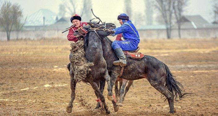Чемпионат КР по кок-бору в Оше. Борьба за третье место