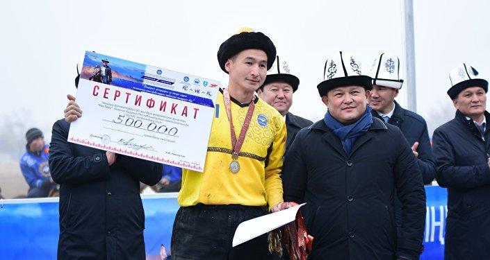 Чемпионат КР по кок-бору в Оше. Награждение
