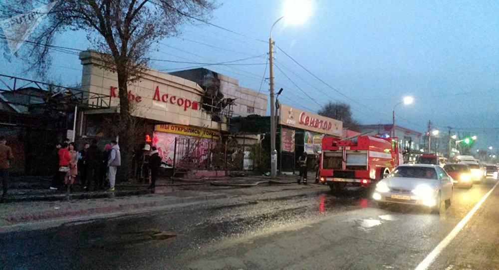 Пожар в столичном кафе Ассорти