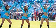 Выступление чирлидерш американской футбольной команды Carolina Panthers