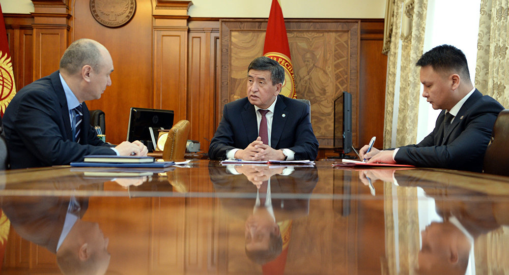 Президент Кыргызской Республики Сооронбай Жээнбеков встретился с Тамерланом Ибраимовым