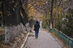 Девушка идет по улице. Архивное фото