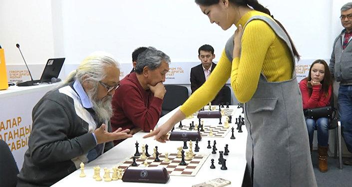 Первый шахматный турнир среди работников СМИ Кыргызстана — видео