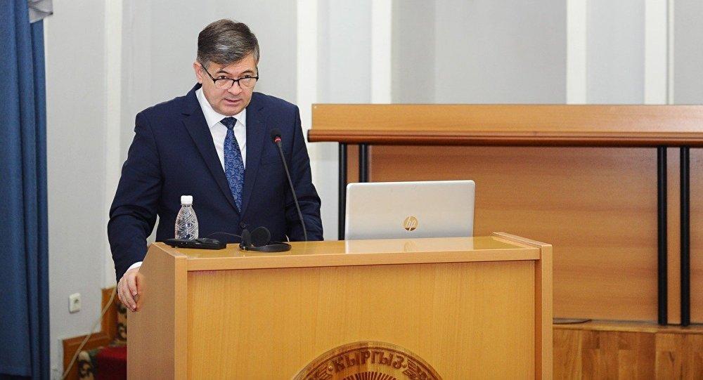 Министр экономики Олег Панкратов выступает на заседании правительства
