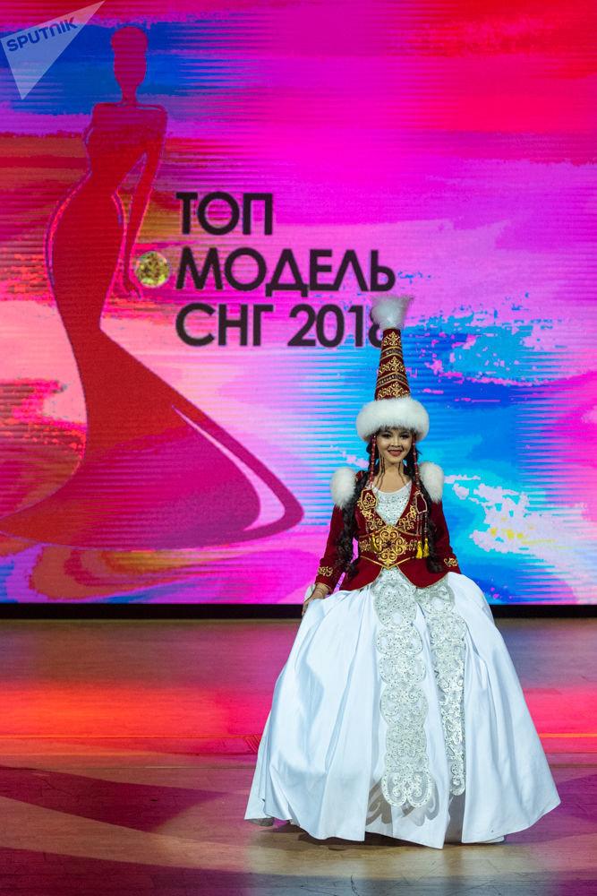 Участница из Кыргызстана Малика Сыдыгалиева на финале конкурса Топ Модель СНГ 2018 в Ереване