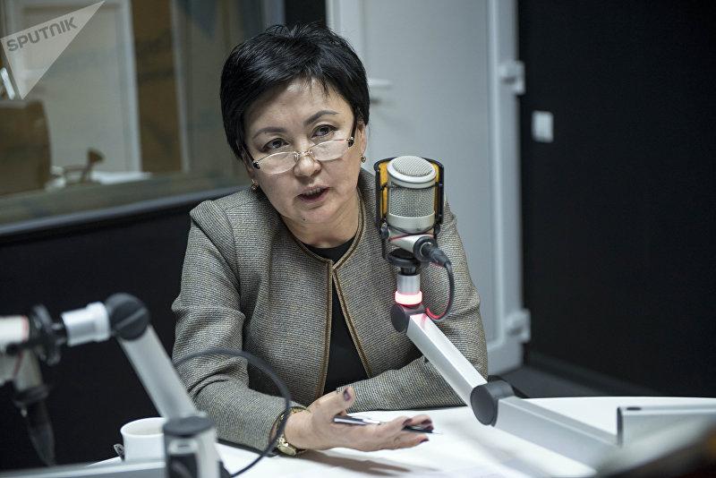 Министр образования КР Гульмира Куда<a style=