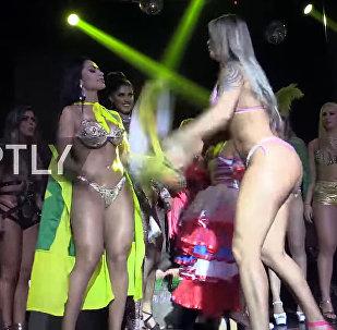 Участницы конкурса на самые пышные ягодицы чуть не подрались на сцене. Видео