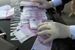 Казахстанского чиновника задержали с кучей денег — 115 тыс евро. Видео