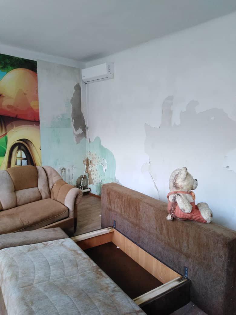 Последствия затопа детского хосписа в Бишкеке