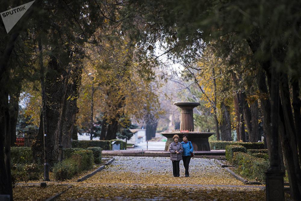 Бишкектеги эмен багы паркы. Күз