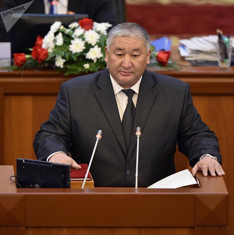 Депутат ЖК 6 созыва Максат Сабиров от партии Кыргызстан. Архивное фото