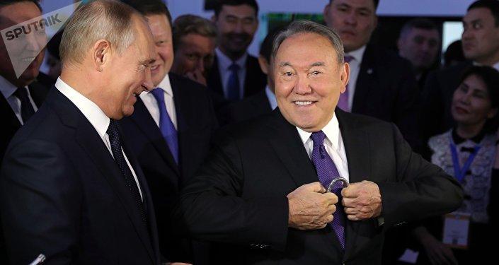 Визит президента РФ В. Путина в Казахстан. День второй