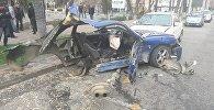 Последствия ДТП со смертельным исходом в Алматы