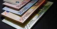 Валюта евро. Архивное фото